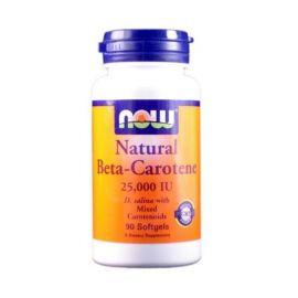 Nowfoods NAT BETA CAROTENE 25000IU 90 S.GELS Προβιταμίνη Α