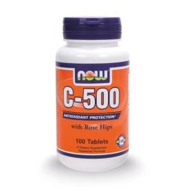 Nowfoods C-500 WITH ROSE HIPS 100 TABS Βιταμίνη C