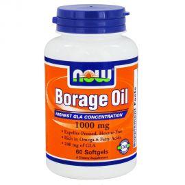 Nowfoods BORAGE OIL 1050mg Απαραίτητα λιπαρά οξέα 60 S.GELS