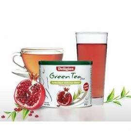 Deligios Green Tea Plus Pomegranate (Ρόδι), 230g