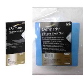 Dermatix Φύλλα Σιλικόνης Διάφανη Γάζα, 13cmX13cm