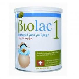 Biolac 1 βιολογικό γάλα για βρέφη 400gr