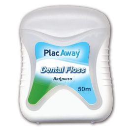 PLAC AWAY DENTAL FLOSS UNWAXED Οδοντικό νήμα