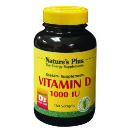 Nature's Plus Vitamin D3 1000 I.U. 180 caps