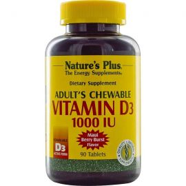 Nature's Plus Adult's Chewable Vitamin D3 1000 I.U. 90 tabs