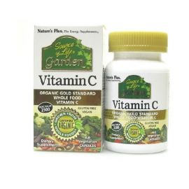 Nature's Plus Garden Organic Vitamin C 250mg 60 Vcaps