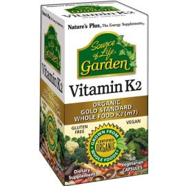 Nature's Plus Garden Organic Vitamin K2 60 Vcaps