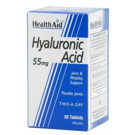 Health Aid HYALURONIC ACID 55mg 30 vetabs