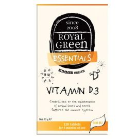 Royal Green Vitamin D3 120 Caps