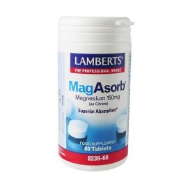 LAMBERTS MAGASORB 150mg (Magnesium as Citrate) 180 tabs